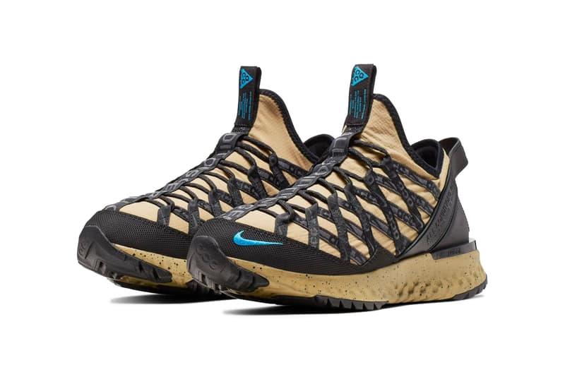"Nike ACG React Terra Gobe ""Parachute Beige"" release date info august 24 2019 colorway beige tan sand trail"