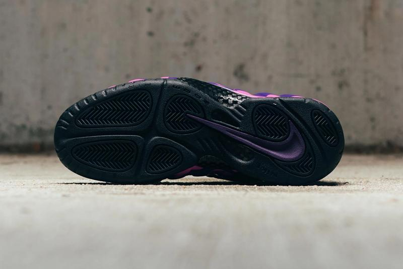 nike air foamposite pro black court purple style 624041-012 colorway release pink