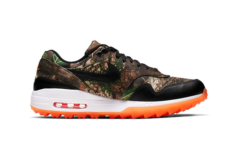 nike air max 1 g nrg camouflage baroque brown tonal orange summit white black tree design BQ4804-210 golf shoes sneakers release