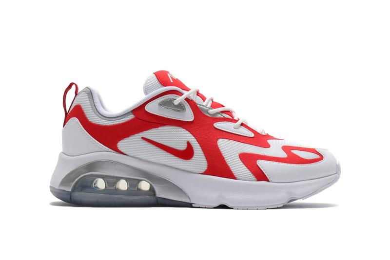 Nike Air Max 200 White University Red Metallic Silver 19FA-S