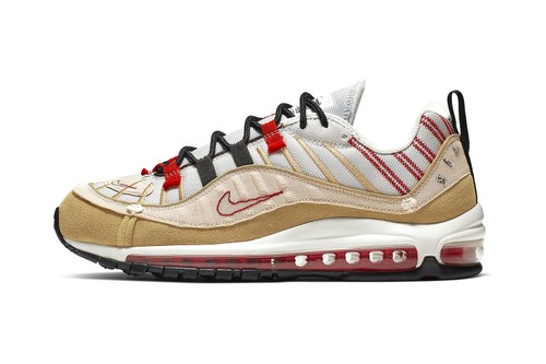"Nike Continues Inside-Out Design With Air Max 98 SE ""Desert Sand/University Red"""
