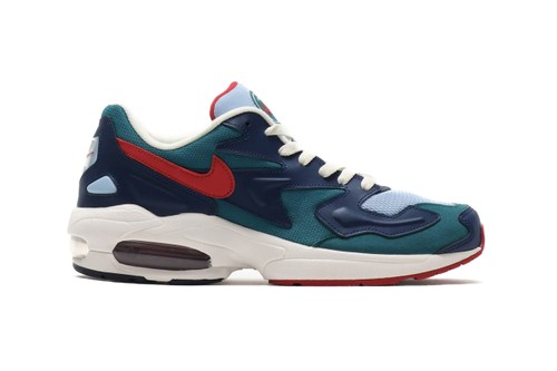 "Nike Revamps Its Air Max2 Light in ""Geode Teal/Gym Red"" and ""Desert Sand/Sail Pumice"""