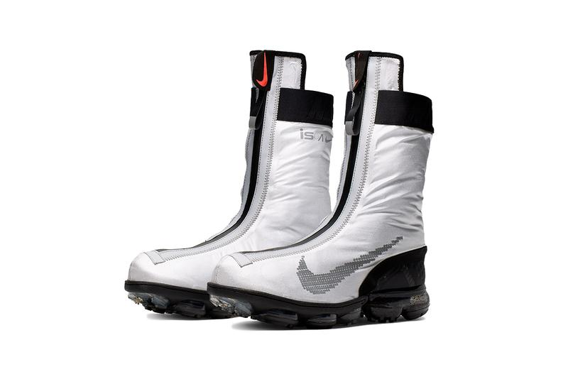 Nike Air Vapormax FK Vapor ISPA Gaiter Boot Drop sneaker transformable colorway august 23 release date silver black white blue metallic Ar8557-001 002