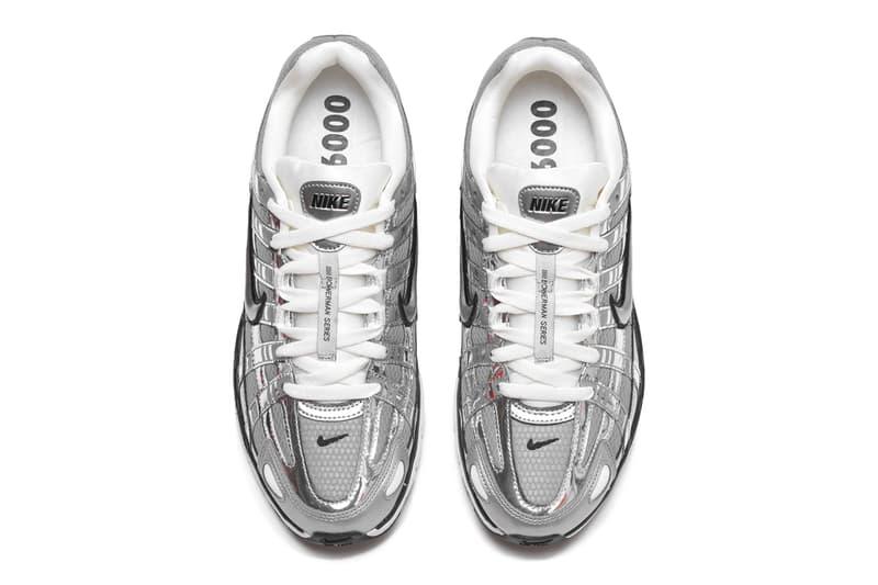 Nike P6000 Metallic Silver nike Pegasus 25 Pegasus 2006 shiny futuristic contemporary modern lifestyle footwear sneaker bright gleaming details
