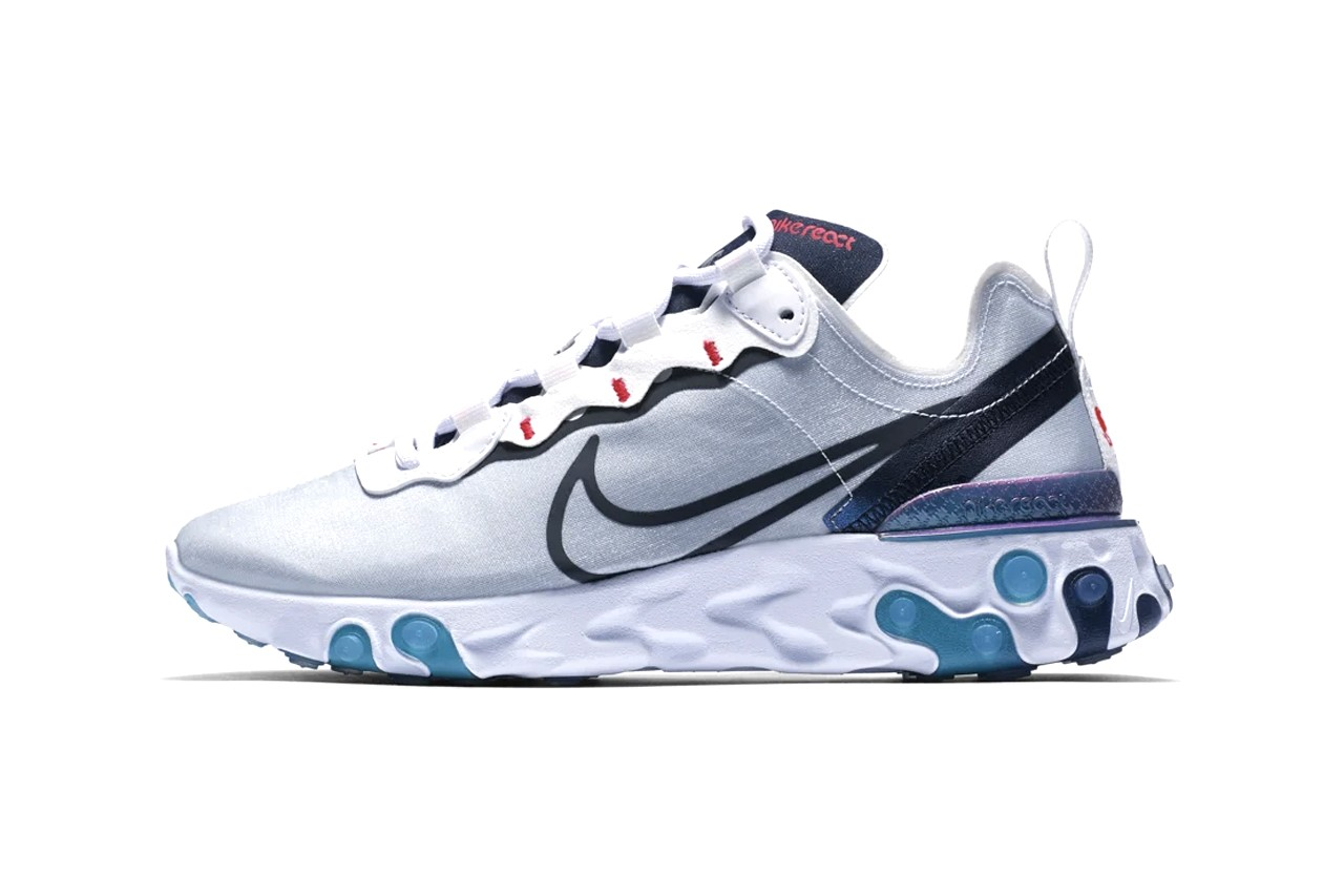 Nike Drops Iridescent React Element 55