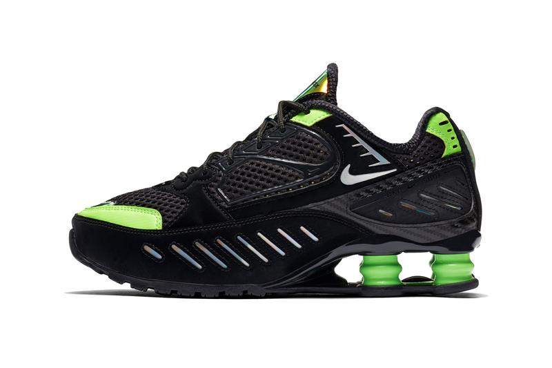Nike Shox Enigma Lime Blast Hyper Crimson Colorways womens shox system green orange vince carter bounce absorb CK2084002 CK2084001