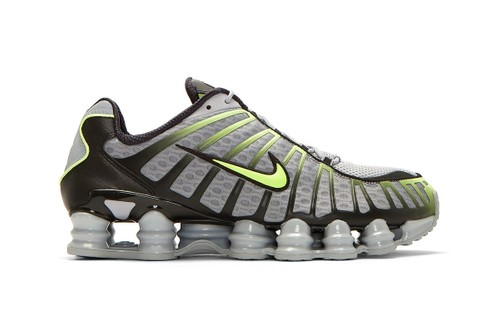 "Nike Shox TL Arrives in a Standout ""Grey/Black/Volt"" Colorway"