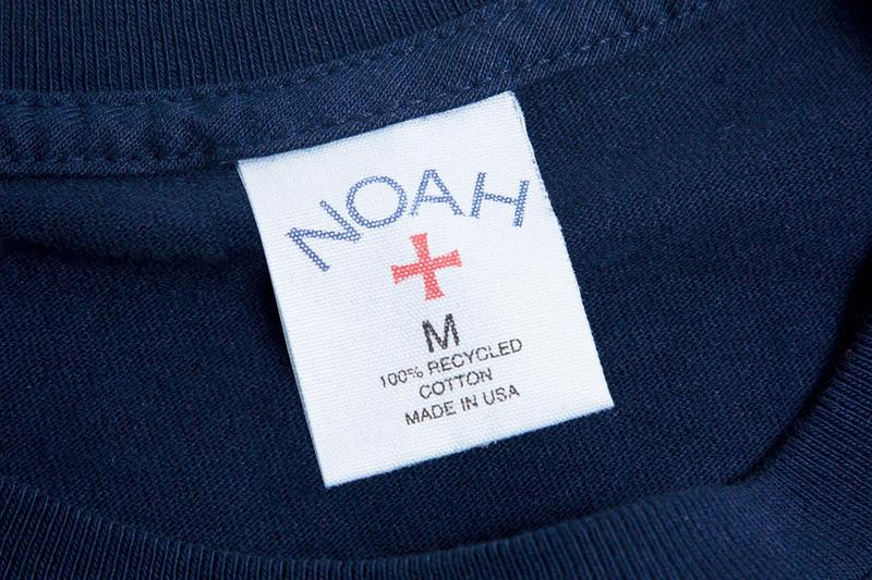 NOAH Introduces 100% Recycled Cotton Long-Sleeve T-Shirts Sustainability Sustainable Fashion 6.5 oz Fair Wages Material