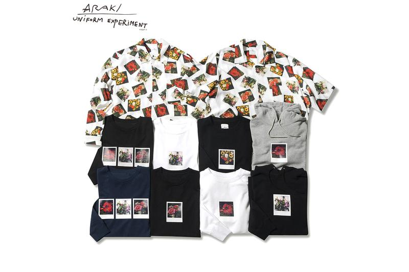 Nobuyoshi Araki uniform experiment Collection Araki Polaroid Crewneck Hoodie Short Sleeve Long Sleeve Black White Flowers Hibiscuses Sunflowers Roses