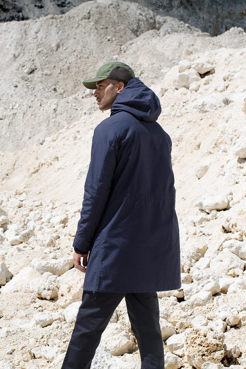 "Norse Projects Fall 2019 Collection ""British Millerain"" Lookbook Video Manchester Factory United Kingdom Manufacturing Process Outerwear Waxed Cotton Jackets Caps"