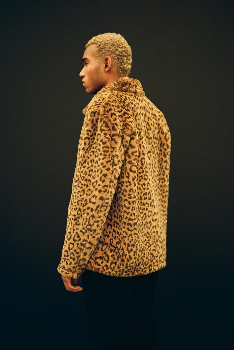 OBEY Print Fall 2019 Campaign Shepard Fairey Leopard Embroidery Graphic Jackets Hoodies Streetwear Bold Patterns Neutral