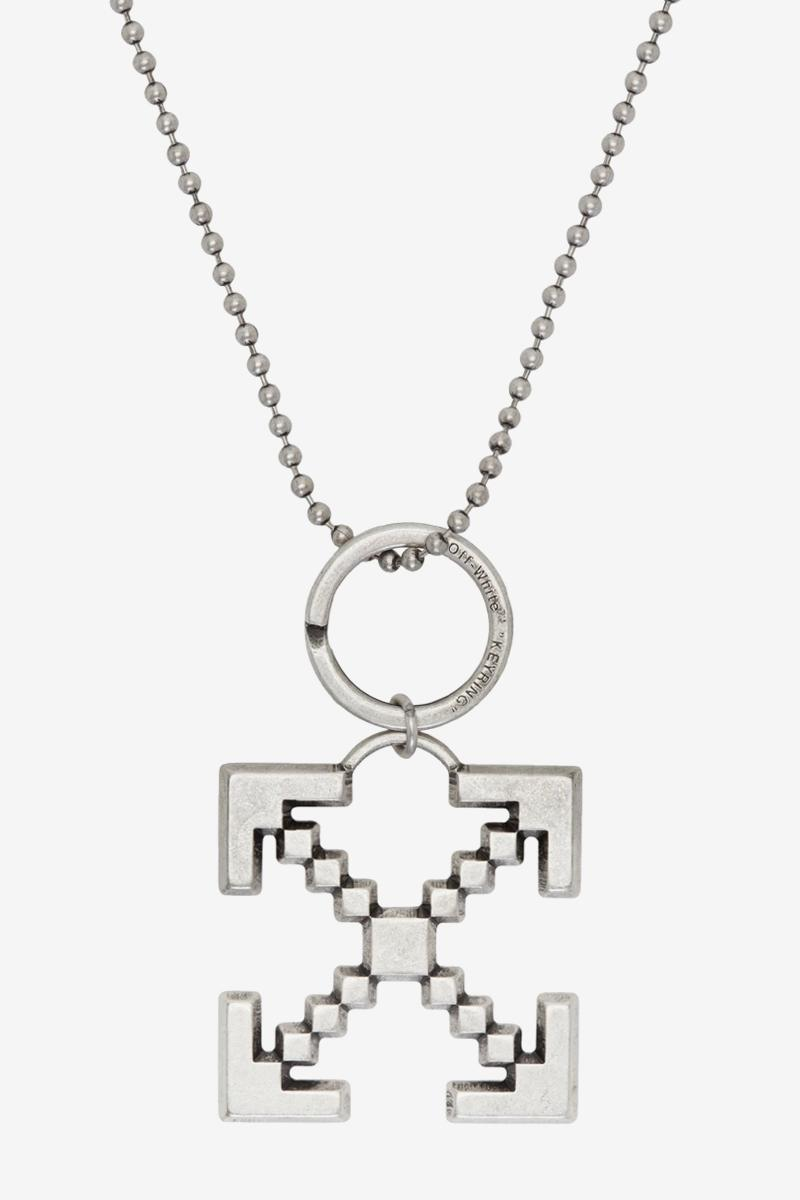 Off White Arrows Scaffolding Necklace Release Info Buy Black Silver Virgil Abloh