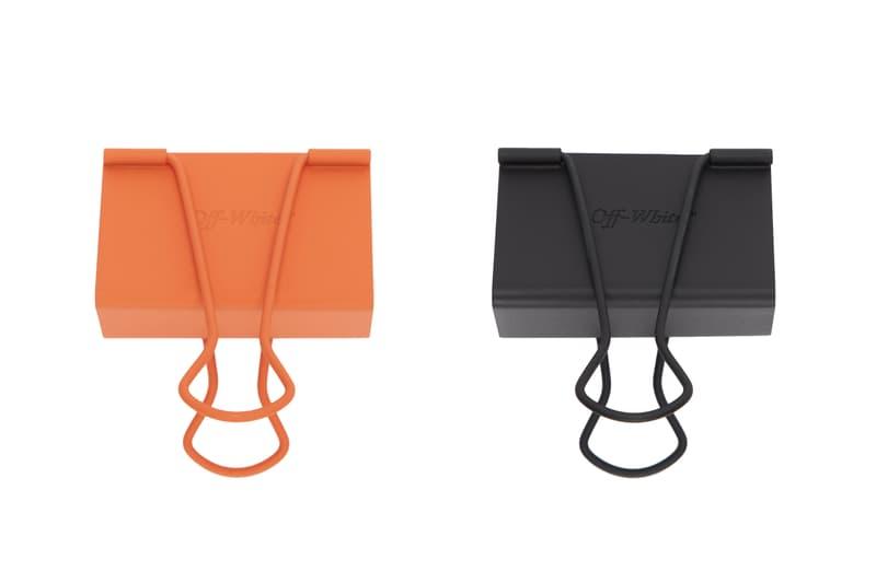 Off-White Binder Clips Orange Black Release Virgil Abloh Info Buy