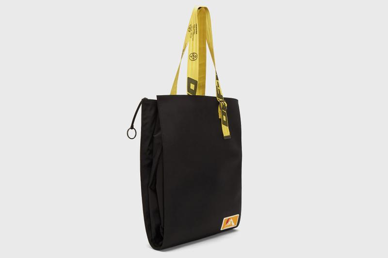 Off-White™ Puffy Origami Tote Bag Release Black Yellow Virgil Abloh info Buy