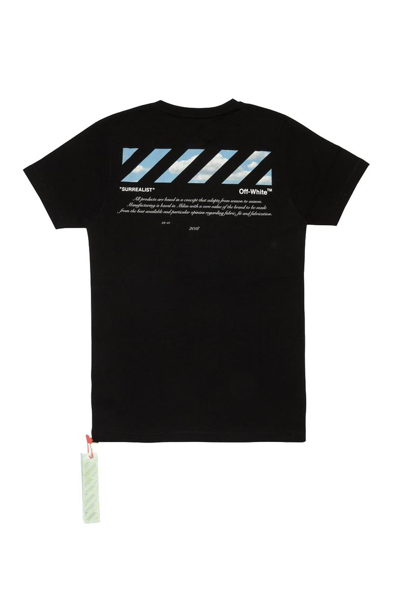 "Off-White™ Online-Exclusive ""Surrealist"" Collection only release date info buy hoodie tee shirt industrial belt socks august 2 2019"