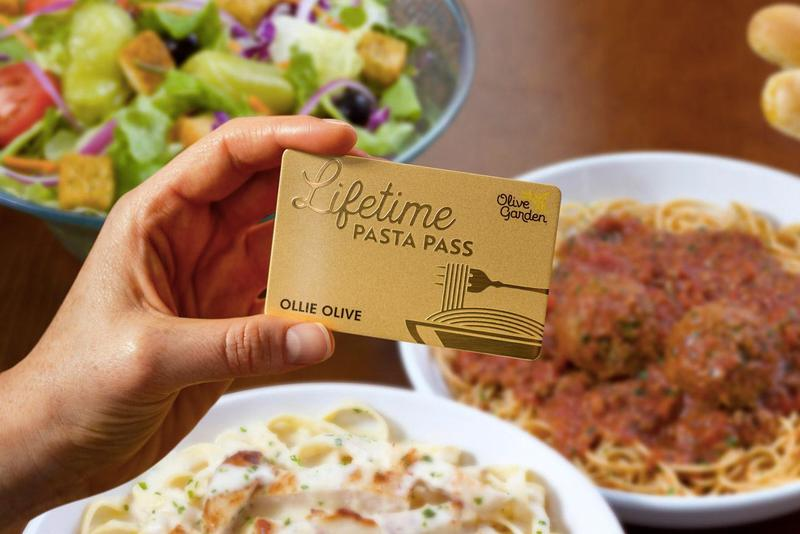 Olive Garden Lifetime Pasta Passes Never Ending Release info Date Price Purchase Buy