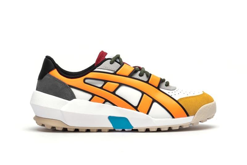 Onitsuka Tiger Big Logo Trainer Sneaker White Shocking Orange Red Blue Black