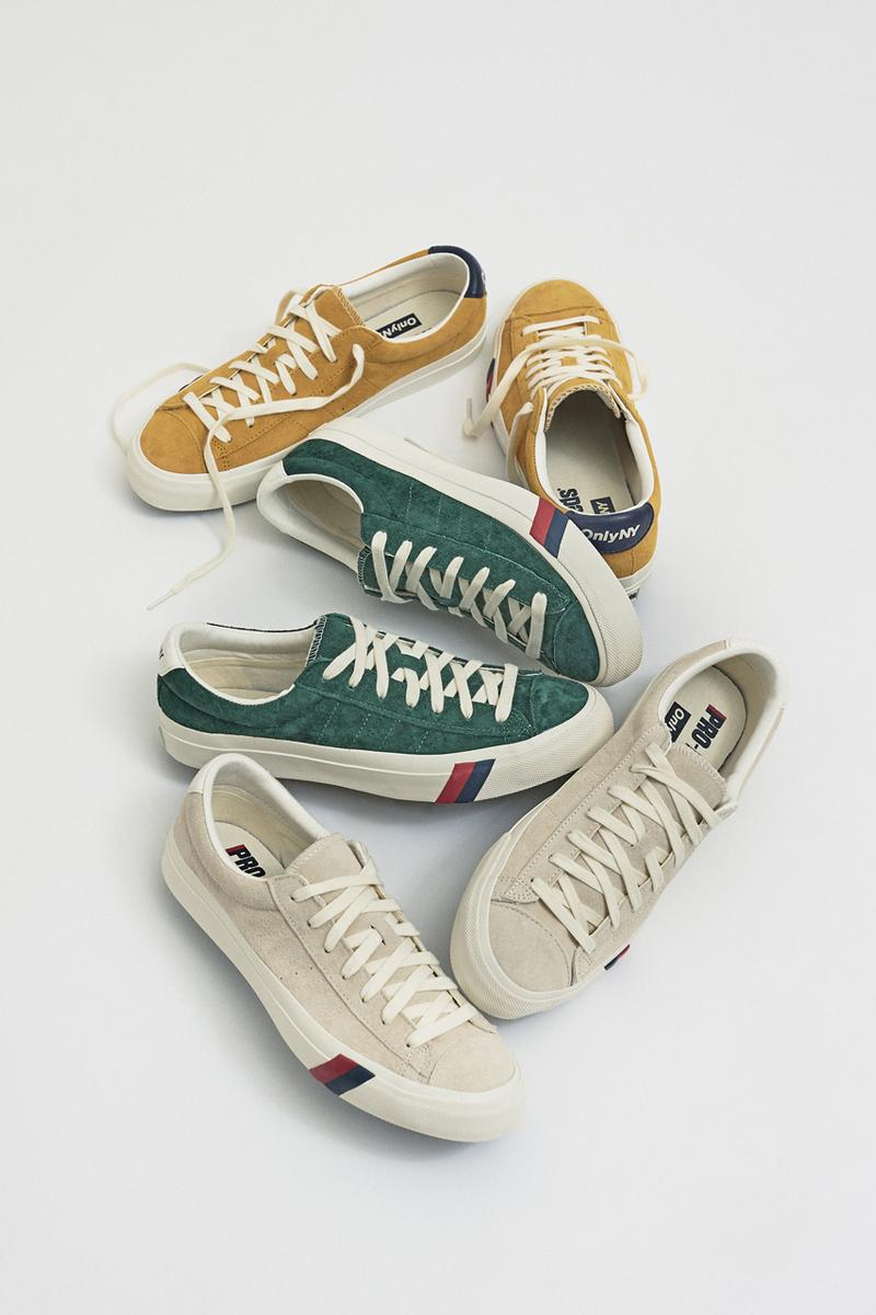 Only NY PRO-Keds Collaboration Old Gold Egret Hunter Green Stripes