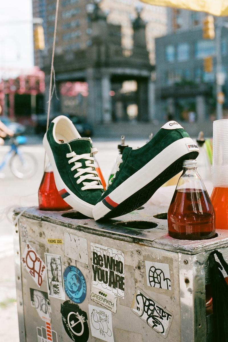 Only NY PRO-Keds Collaboration Old Gold Egret Hunter Green Stripes