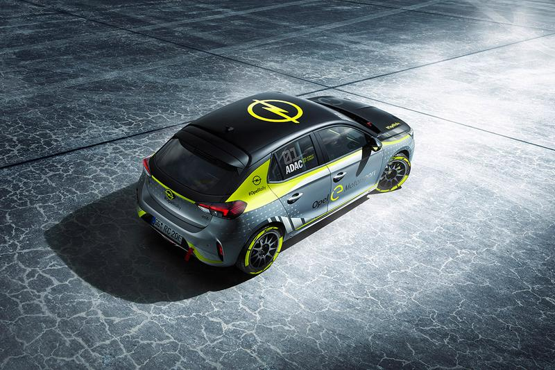 Opel Corsa-e Rally Car Electric Automotive World First News First Look Vauxhall 50kWh battery pack 134bhp (136PS) 191lb-ft (260Nm) torque Frankfurt Motor Show 2020 ADAC Opel e-Rally Cup