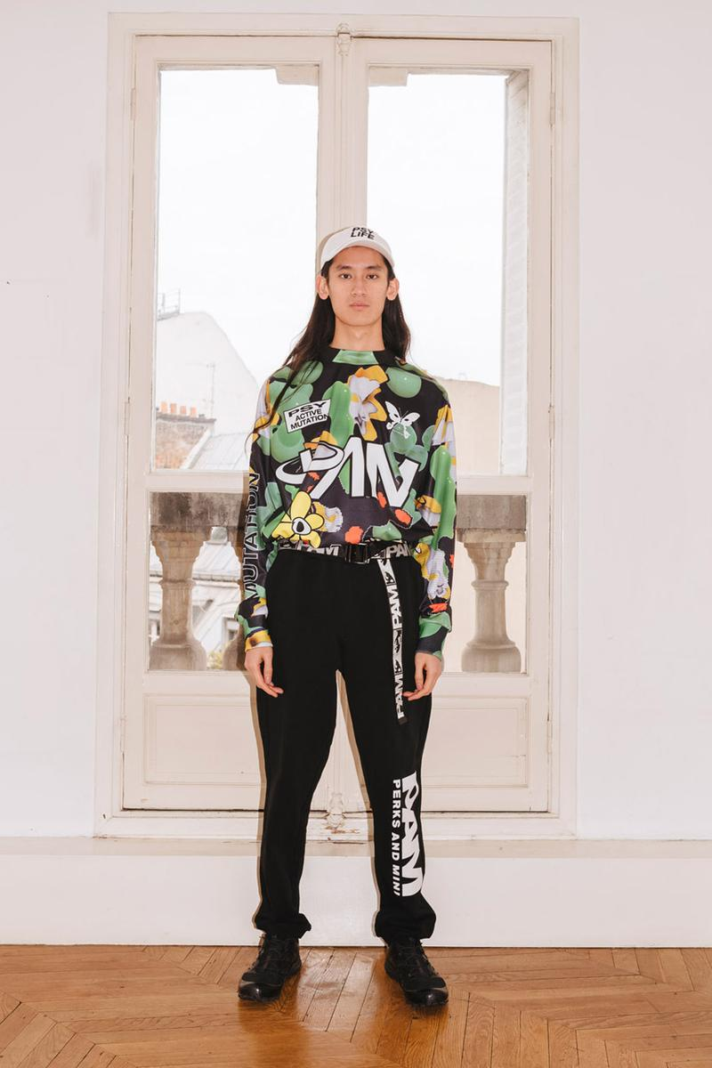 PAM Perks and mini Fall Winter 2019 Beyond The Clouds Collection neon graphics bomber jacket flower motif jewelry polartec outerwear sweatpants patchwork flannels