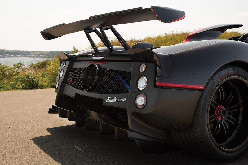 Pagani Zonda Aether Roadster One of One Limited Edition Rare Hypercar Super Car Italian Production Manufactured Mercedes-AMG Engine 2017 $5.5M USD V12 RM Sotheby's Roof Scoop