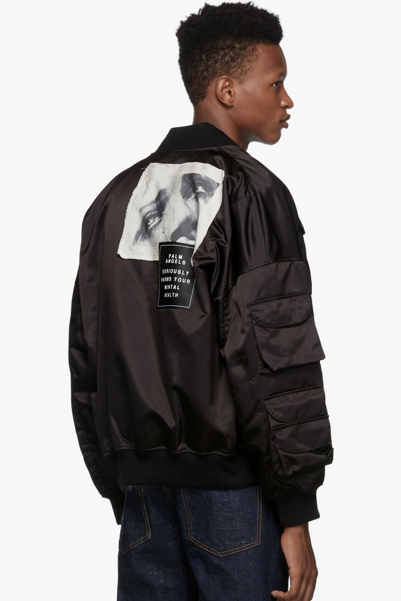 Palm Angels Black Hunting Bomber Mesh Hunting Vest Beige Francesco Ragazzi Made In Italy Satin poacher deer logo man ray graphic milan tactical