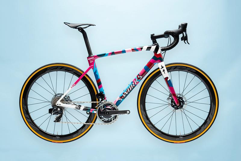 Parra Romance Specialized S-Works Roubaix Bicycle World Bicycle Relief Pink Blue White Black Yellow