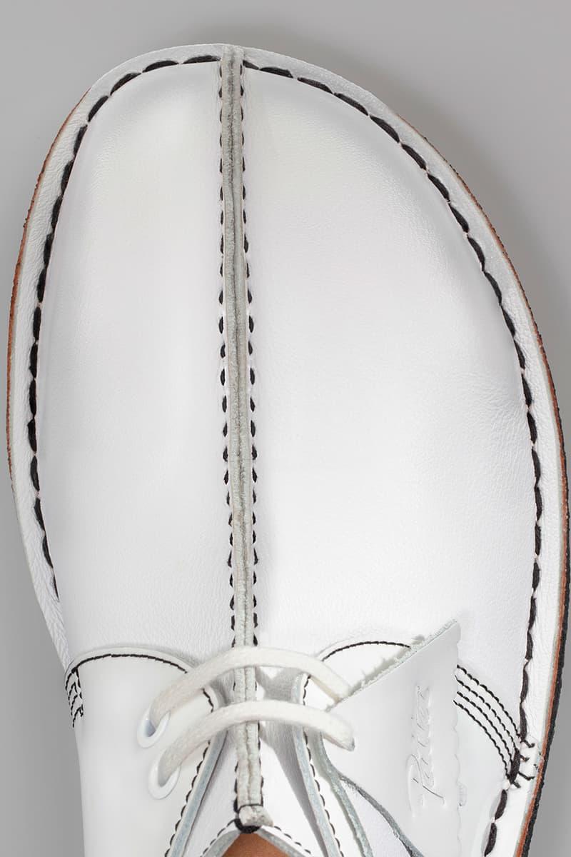"Patta x Clarks Originals Desert Trek Release Information Amsterdam London Online ""Bank Robber"" Shoe Footwear Trekman Logo Jamaica Culture Guillaume Schmidt Butter Soft Leather Patent White Black"