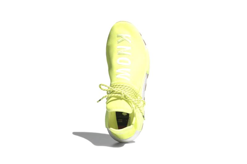 "Pharrel Williams adidas Originals NMD Hu ""PROUD"" Pack Collection Sneaker Release Collaboration Human Race BOOST Energy Return Cushioning Caging Trail System Unit Three Stripes"