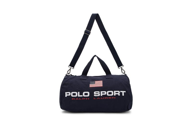 Polo Ralph Lauren Sport Bag Collection Drop Release Information Wallet Belt Navy United States of America USA Duffle Waist Fanny Pack Crossbody Nylon Twill Canvas Tote Bags