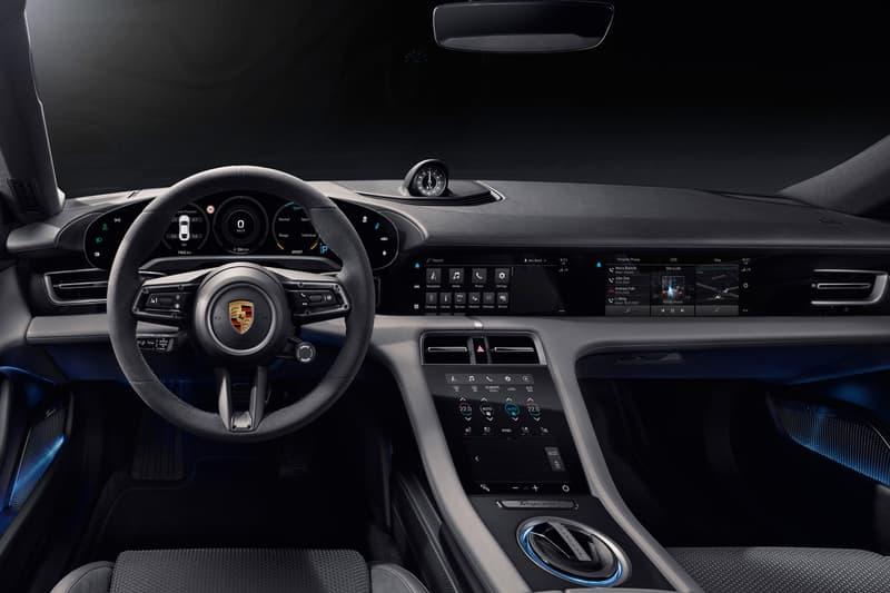 Porsche Unveils Interior of Taycan Electric Vehicle