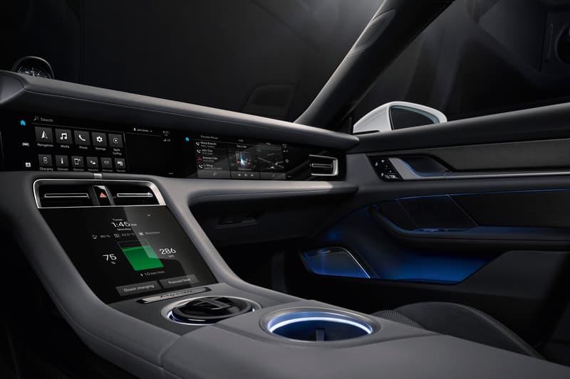 Porsche Taycan Electric Car Interior