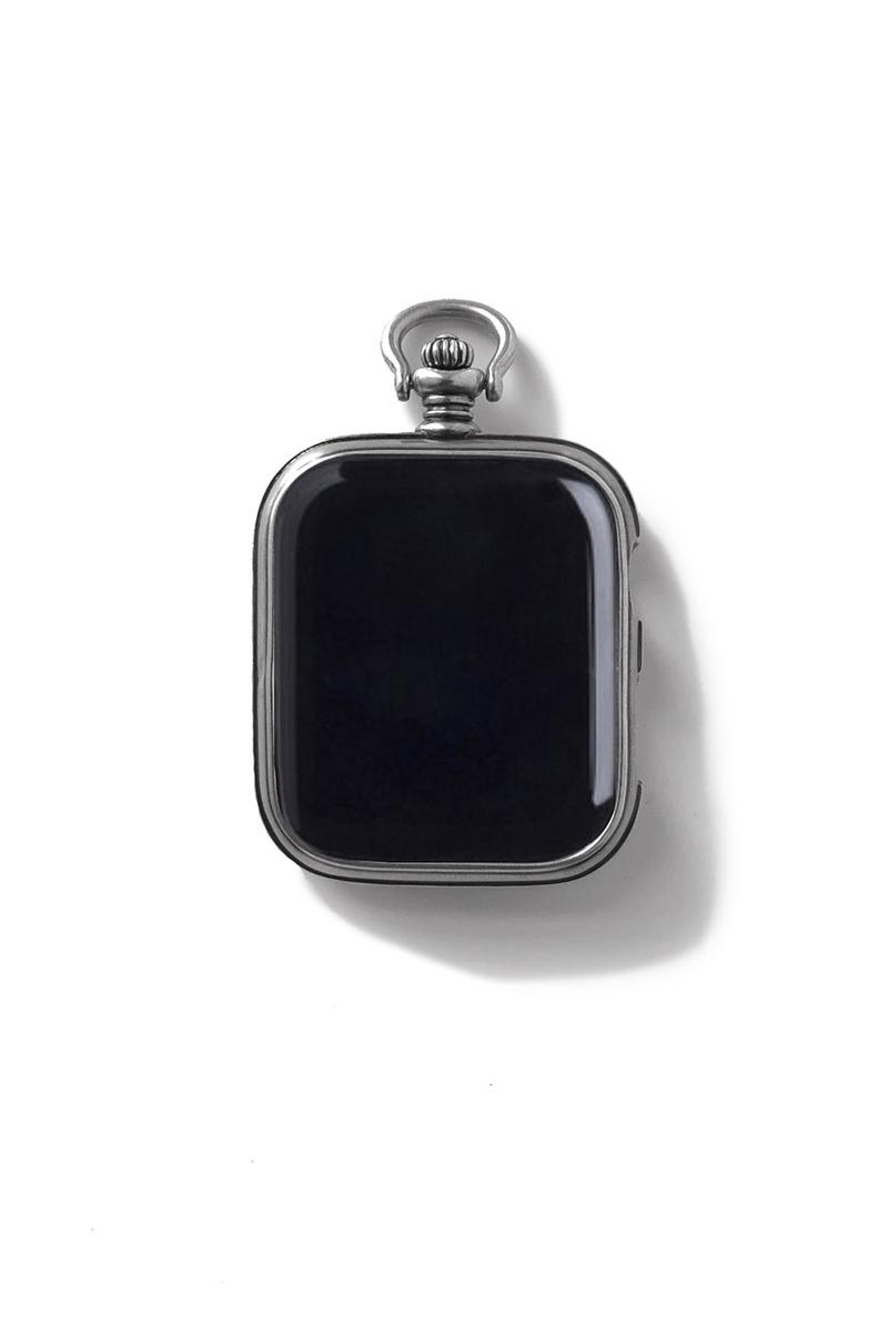 PORTER CLASSIC Drops Luxe Silver Apple Watch Case for $660 USD