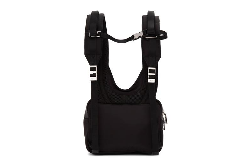 Prada Black Technical Backpack Release accessories