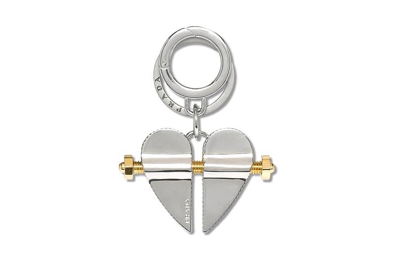 Prada Heart Key Chain Release Silver Gold Buy Purchase Info