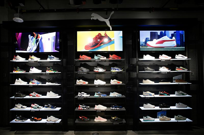 Look Inside PUMA New 5th Avenue Flagship Store NYC Retail Athletic Footwear Apparel Chinatown Market University Customization NBA2 F1 Racing Simulator Bob Philion Bjoern Gulden