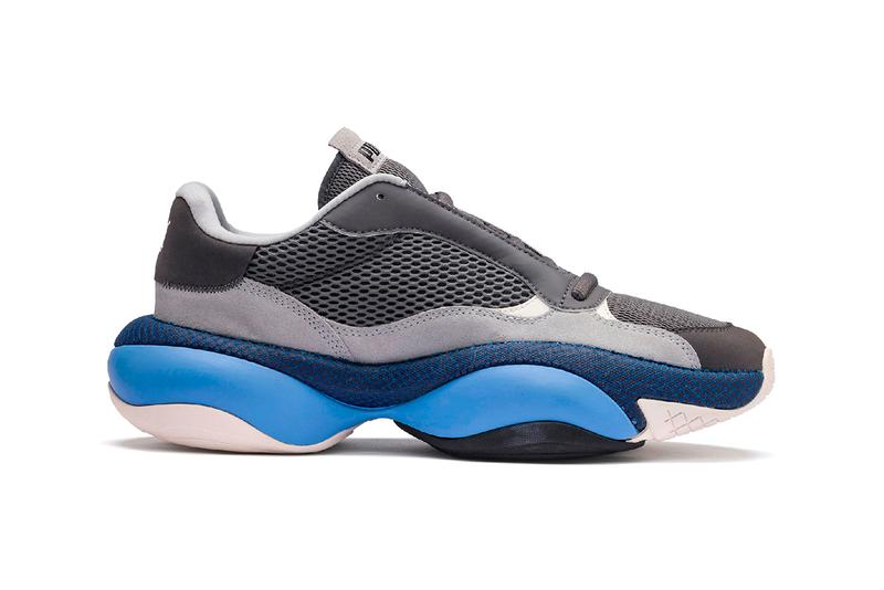 "puma alteration blitz first look release details buy cop purchase end clothing information ""Castlerock/High Rise"" grey blue chunky sneaker footwear trainer"