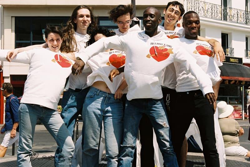 PZ Opassuksatit  Helmut Lang Love Themed Collection Paris Valentine Hoodies T-Shirts Long Sleeves Hearts Arrows Red Blue New York