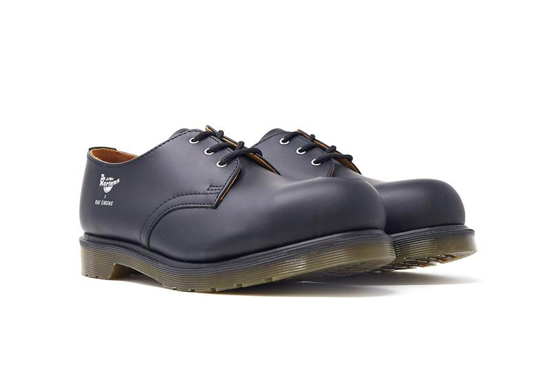 Raf Simons x Dr. Martens 1461 Derby Shoe Release Information Footwear Belgian Designer Asymmetrical Cut Out Metal Toe Cap Steel Exposed Fall Winter 2019 FW19 Runway Paris Fashion Week