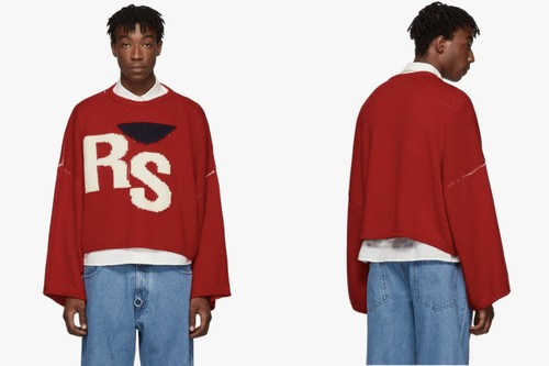 "Raf Simons Drops Three Bold Colors of Its Virgin Wool Oversized ""RS"" Sweater"