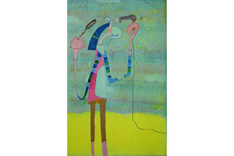 "Rafa Macarron ""Fluorescent Routine"" Exhibition Allouche Gallery New York City Creatures Dream-Like Otherworldly"