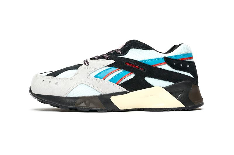mita sneakers BAL reebok aztrek sneaker footwear trainers release information details buy cop purchase order sneakersnstuff red black grey blue suede mesh