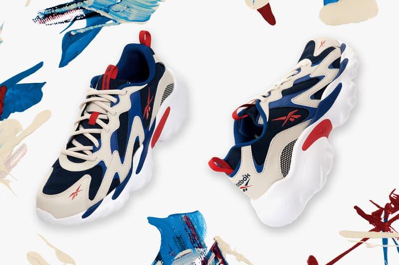 "Reebok DMX Series 1000 ""Blue/Red"" & ""Purple/White"" sneakers release 90s models"