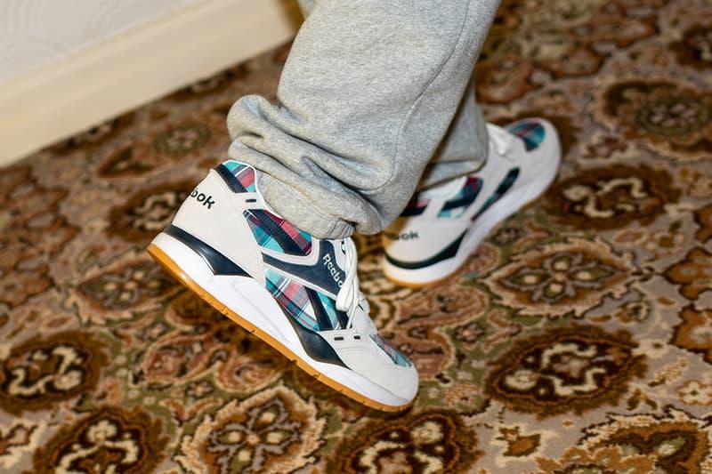 Size Reebok Ree Cut Running Club Exclusive Look Madras Plaid Mens Womens Running Shoe sneakers blue pink red grey