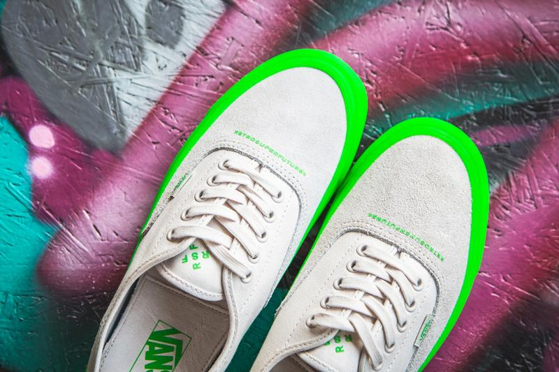 RETROSUPERFUTURE Vans OG Style 43 LX Collaboration Neon Green White Black Deep Purple Fluorescent VN0A3DPBTF5