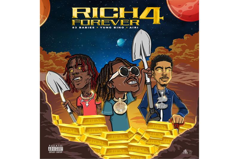 Rich the Kid Rich Forever 4 Mixtape Stream album EP compilation asap ferg famous dex 83 babies rap hip hop 40 minutes bars 808 beat instrumental 300 records interscope