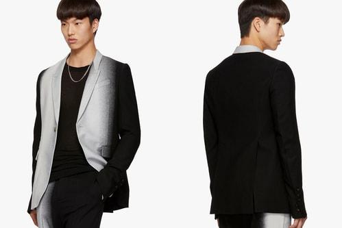 Rick Owens Elevates the Simple Black Suit With Silver-Tone Dégradé Design