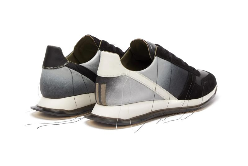 rick owens vintage leather trainers sneakers black white degrade ombre release