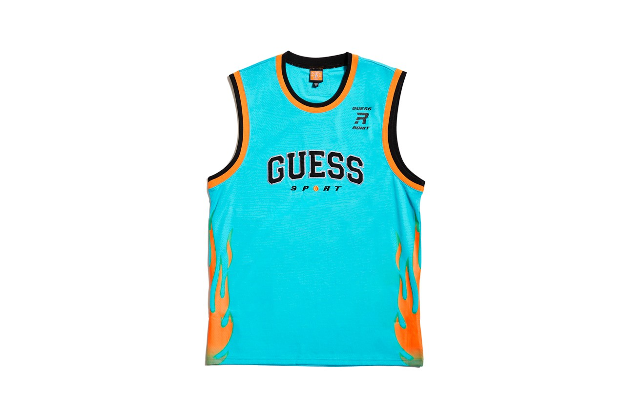 ROKIT x GUESS Sport Basketball Inspired Capsule jersey tear away pants nba 90s 1990s